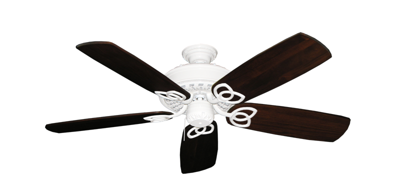 """Picture of Renaissance Pure White with 52"""" Series 425 Arbor Cherrywood Blades"""