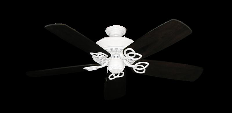 "Picture of Renaissance Pure White with 52"" Series 425 Arbor Dark Walnut Blades"