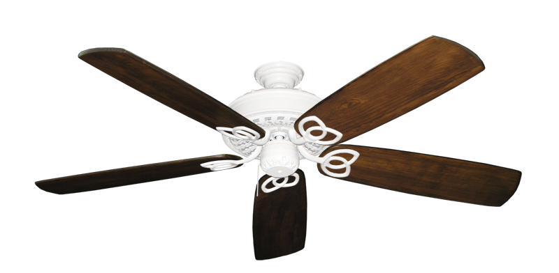 "Picture of Renaissance Pure White with 60"" Series 450 Arbor Dark Walnut Blades"