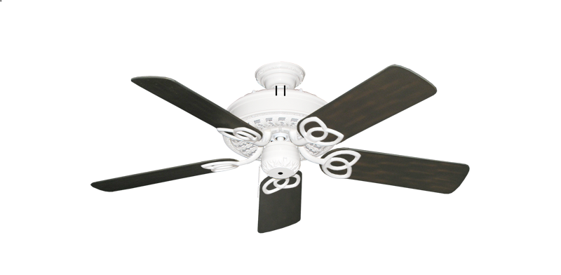 """Picture of Renaissance Pure White with 44"""" Outdoor Oil Rubbed Bronze Blades"""