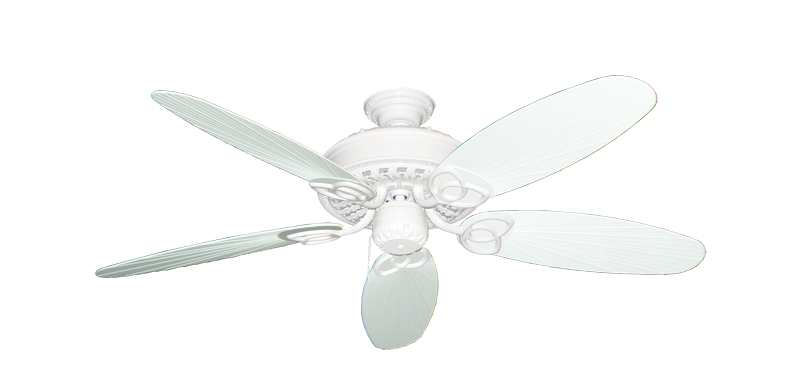 """Picture of Renaissance Pure White with 52"""" Outdoor Leaf Pure White Blades"""