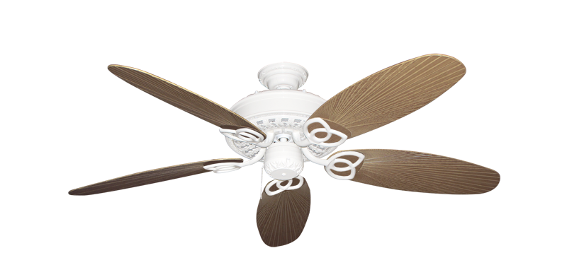"Picture of Renaissance Pure White with 52"" Outdoor Leaf Tan Blades"