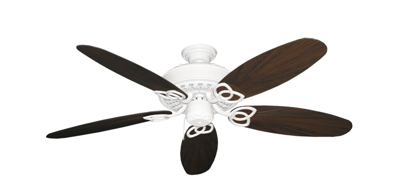 "Picture of Renaissance Pure White with 52"" Outdoor Leaf Oil Rubbed Bronze Blades"