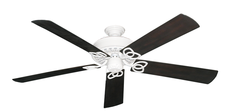 "Picture of Renaissance Pure White with 60"" Outdoor Oil Rubbed Bronze Blades"