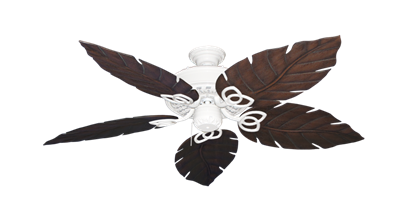 """Picture of Renaissance Pure White with 52"""" Venetian Oil Rubbed Bronze Blades"""