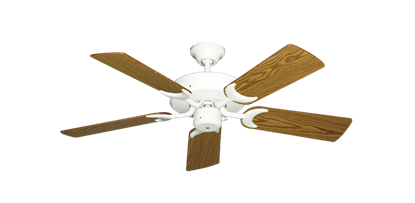 """Picture of Patio Fan Pure White with 44"""" Oak Blades"""