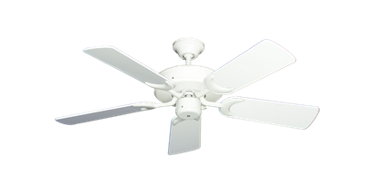 """Picture of Patio Fan Pure White with 44"""" Pure White Gloss Blades"""