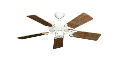 """Picture of Patio Fan Pure White with 44"""" Walnut Gloss Blades"""