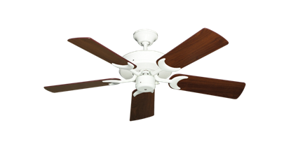 """Picture of Patio Fan Pure White with 44"""" Walnut Blades"""