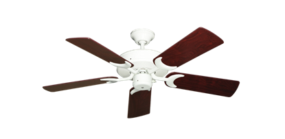 "Picture of Patio Fan Pure White with 44"" Cherrywood Blades"