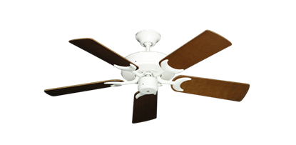 """Picture of Patio Fan Pure White with 44"""" Natural Cherry Blades"""
