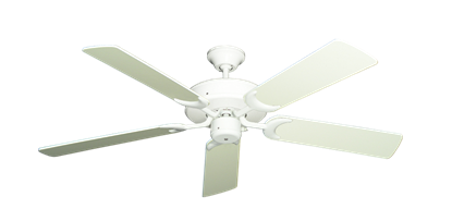 """Picture of Patio Fan Pure White with 52"""" Antique White Blades"""