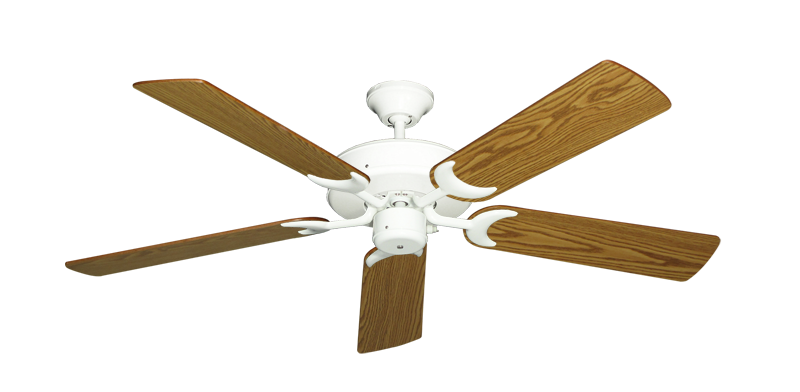 """Picture of Patio Fan Pure White with 52"""" Oak Blades"""