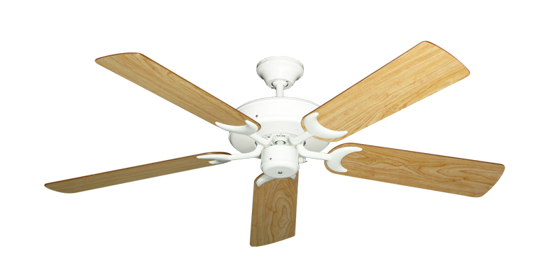 """Picture of Patio Fan Pure White with 52"""" Maple Blades"""