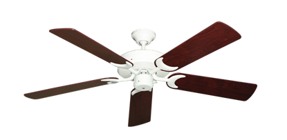 """Picture of Patio Fan Pure White with 52"""" Cherrywood Blades"""