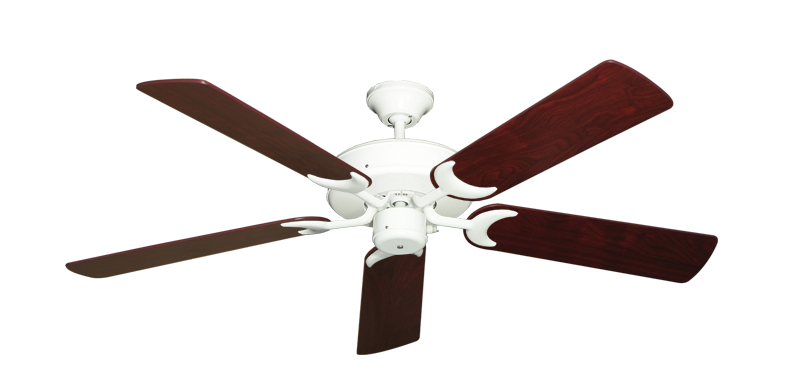 "Picture of Patio Fan Pure White with 52"" Cherrywood Blades"