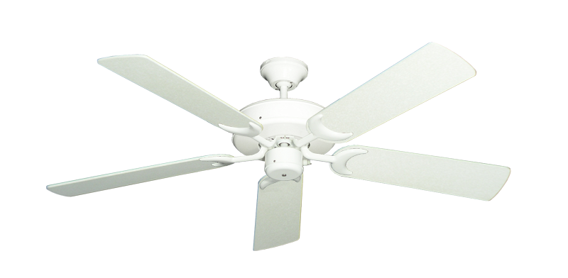 """Picture of Patio Fan Pure White with 52"""" Navajo White Blades"""