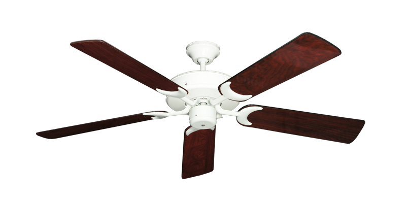 """Picture of Patio Fan Pure White with 52"""" Cherrywood Gloss Blades"""