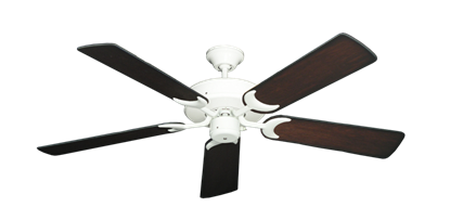"""Picture of Patio Fan Pure White with 52"""" Distressed Cherry Blades"""