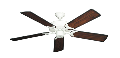 """Picture of Patio Fan Pure White with 52"""" Burnt Cherry Blades"""