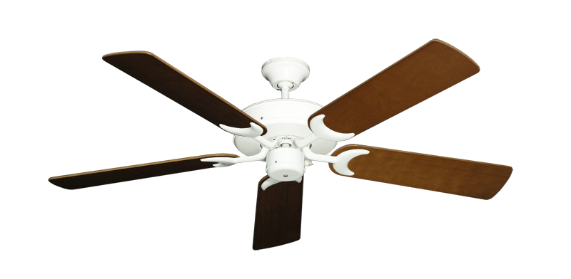 "Picture of Patio Fan Pure White with 52"" Natural Cherry Blades"