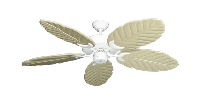 """Picture of Patio Fan Pure White with 52"""" Series 125 Arbor Whitewash Blades"""