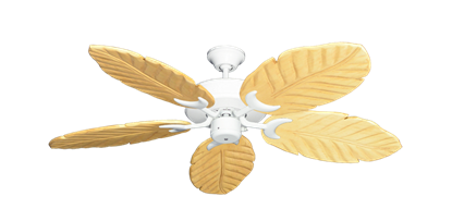 """Picture of Patio Fan Pure White with 52"""" Series 125 Arbor Maple Blades"""