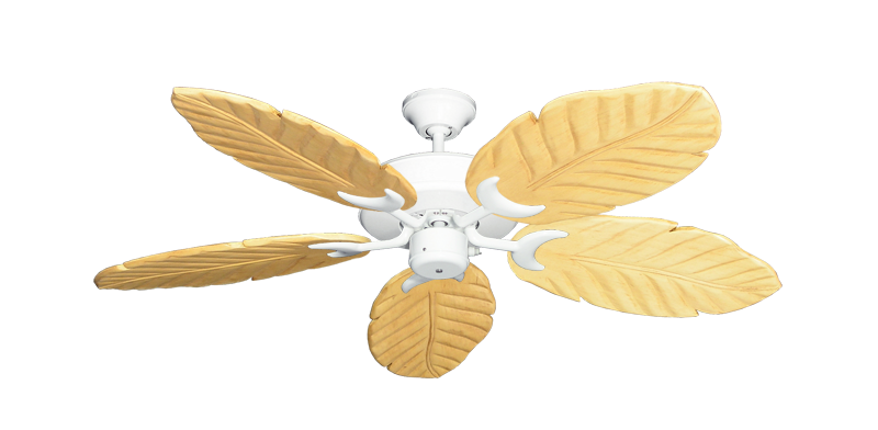 "Picture of Patio Fan Pure White with 52"" Series 125 Arbor Maple Blades"