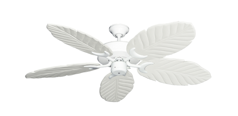 """Picture of Patio Fan Pure White with 52"""" Series 125 Arbor Pure White Blades"""