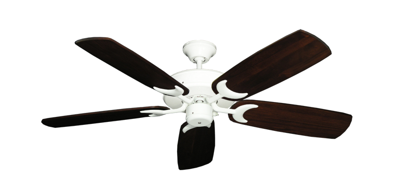 "Picture of Patio Fan Pure White with 52"" Series 425 Arbor Cherrywood Blades"