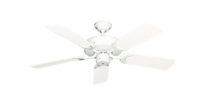 """Picture of Patio Fan Pure White with 44"""" Outdoor Pure White Blades"""