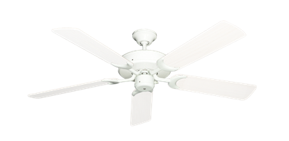 "Patio Fan Pure White with 52"" Outdoor Pure White Blades"