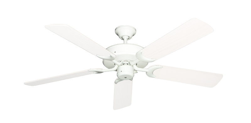 """Patio Fan Pure White with 52"""" Outdoor Pure White Blades"""