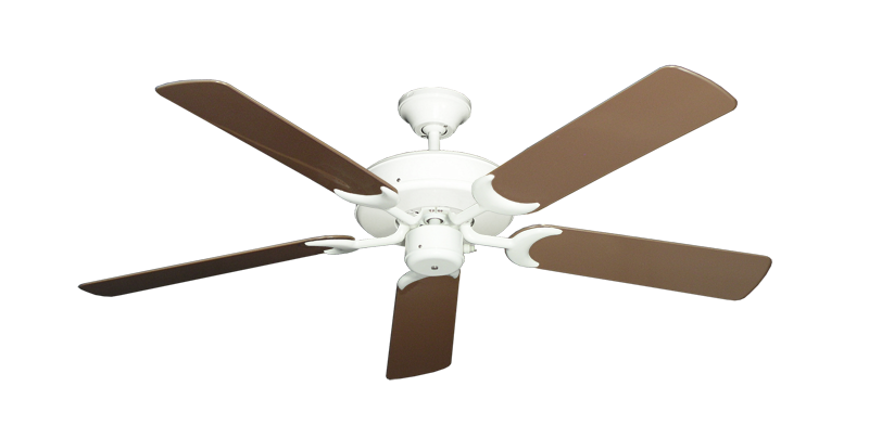 """Picture of Patio Fan Pure White with 52"""" Outdoor Brown Blades"""