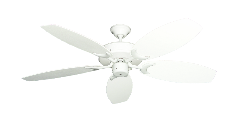 """Picture of Patio Fan Pure White with 52"""" Outdoor Oar Pure White Blades"""
