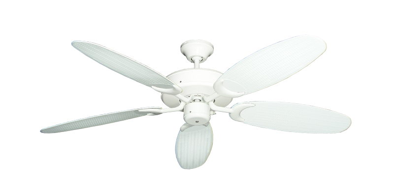 "Picture of Patio Fan Pure White with 52"" Outdoor Wicker Pure White Blades"