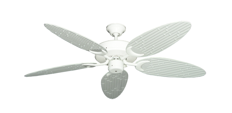 """Picture of Patio Fan Pure White with 52"""" Outdoor Bamboo Pure White Blades"""