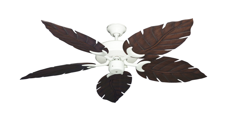 "Picture of Patio Fan Pure White with 52"" Venetian Oil Rubbed Bronze Blades"