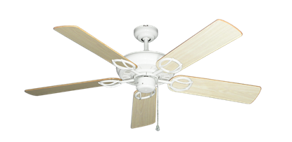 """Picture of Trinidad Pure White with 52"""" Bleached Oak Gloss Blades"""