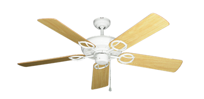 """Picture of Trinidad Pure White with 52"""" Honey Oak Gloss Blades"""