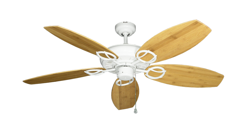 """Picture of Trinidad Pure White with 52"""" Oar Bamboo Brown Blades"""