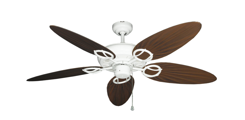 "Picture of Trinidad Pure White with 52"" Outdoor Palm Oil Rubbed Bronze Blades"
