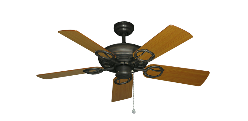 "Picture of Trinidad Oil Rubbed Bronze with 44"" Teak Blades"