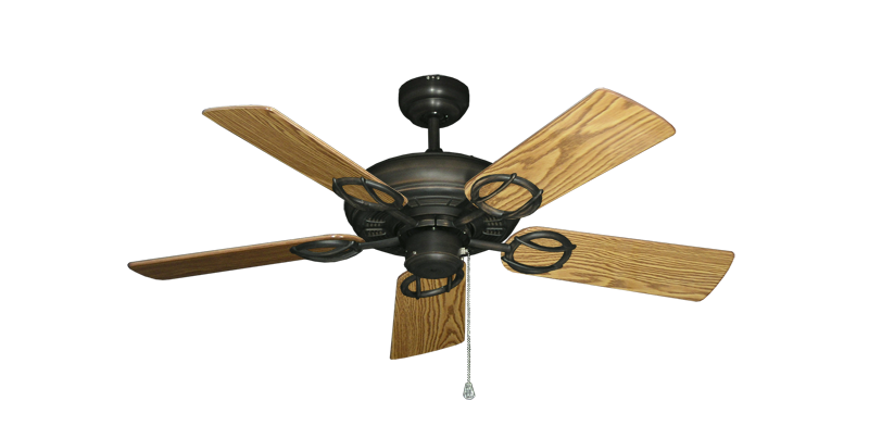 "Picture of Trinidad Oil Rubbed Bronze with 44"" Oak Gloss Blades"