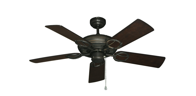 """Picture of Trinidad Oil Rubbed Bronze with 44"""" Distressed Walnut Blades"""