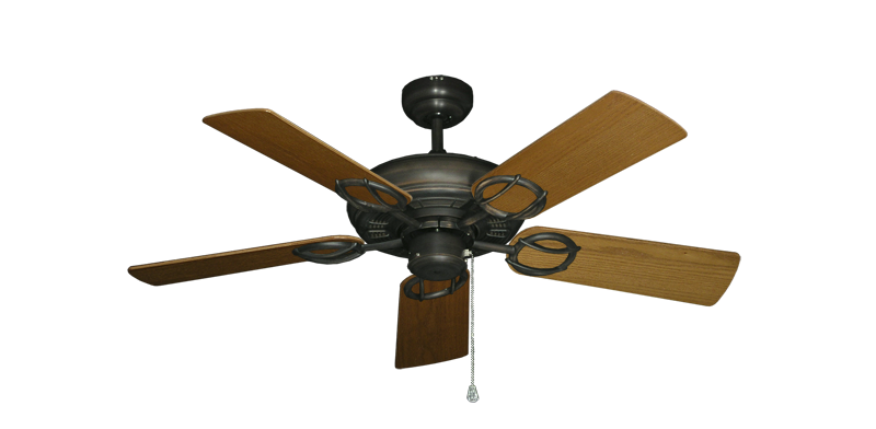 """Picture of Trinidad Oil Rubbed Bronze with 44"""" Light Oak Blades"""