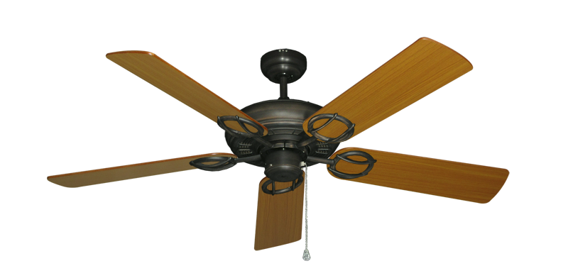 "Picture of Trinidad Oil Rubbed Bronze with 52"" Teak Blades"