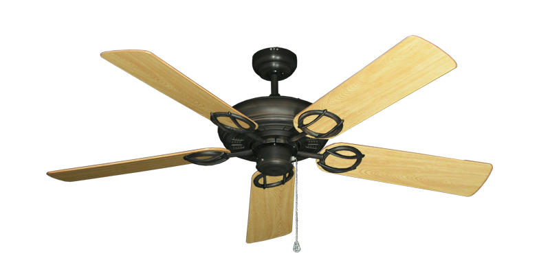"Picture of Trinidad Oil Rubbed Bronze with 52"" Honey Oak Gloss Blades"