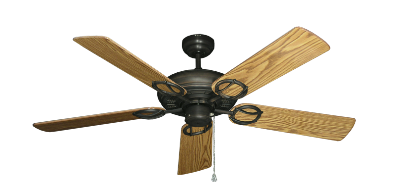"""Picture of Trinidad Oil Rubbed Bronze with 52"""" Oak Gloss Blades"""