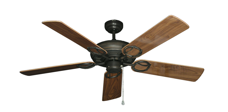 """Picture of Trinidad Oil Rubbed Bronze with 52"""" Walnut Gloss Blades"""